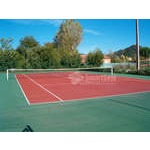 Cleaned tennis court
